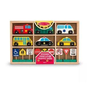Melissa & Doug 15 Piece Vehicles & Traffic Signs